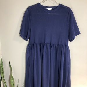 H&M Navy Mesh Dress